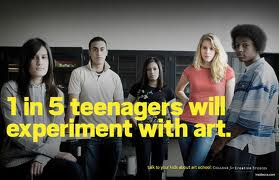 1 in five teenagers experiment in art