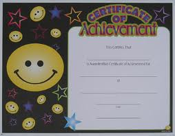 Cert of achievement