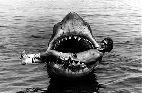 Man in shark mouth
